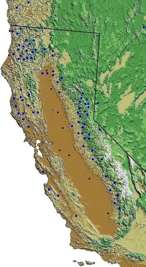 california creeks map of rivers